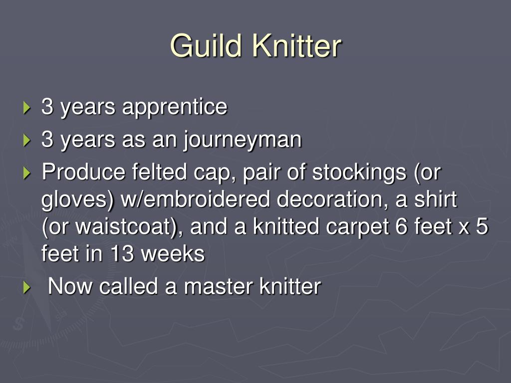 Guild Knitter