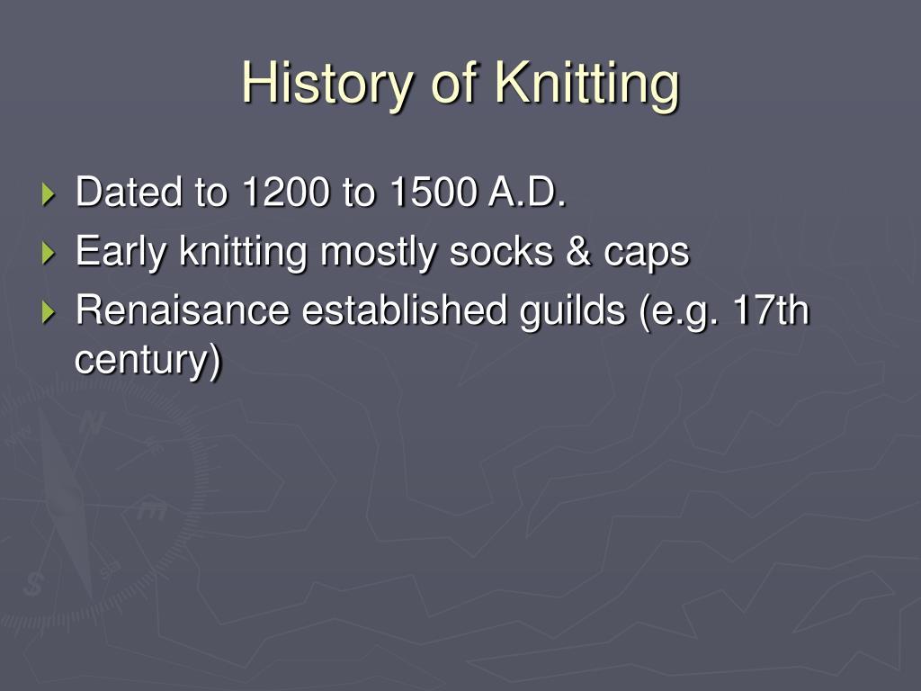 History of Knitting