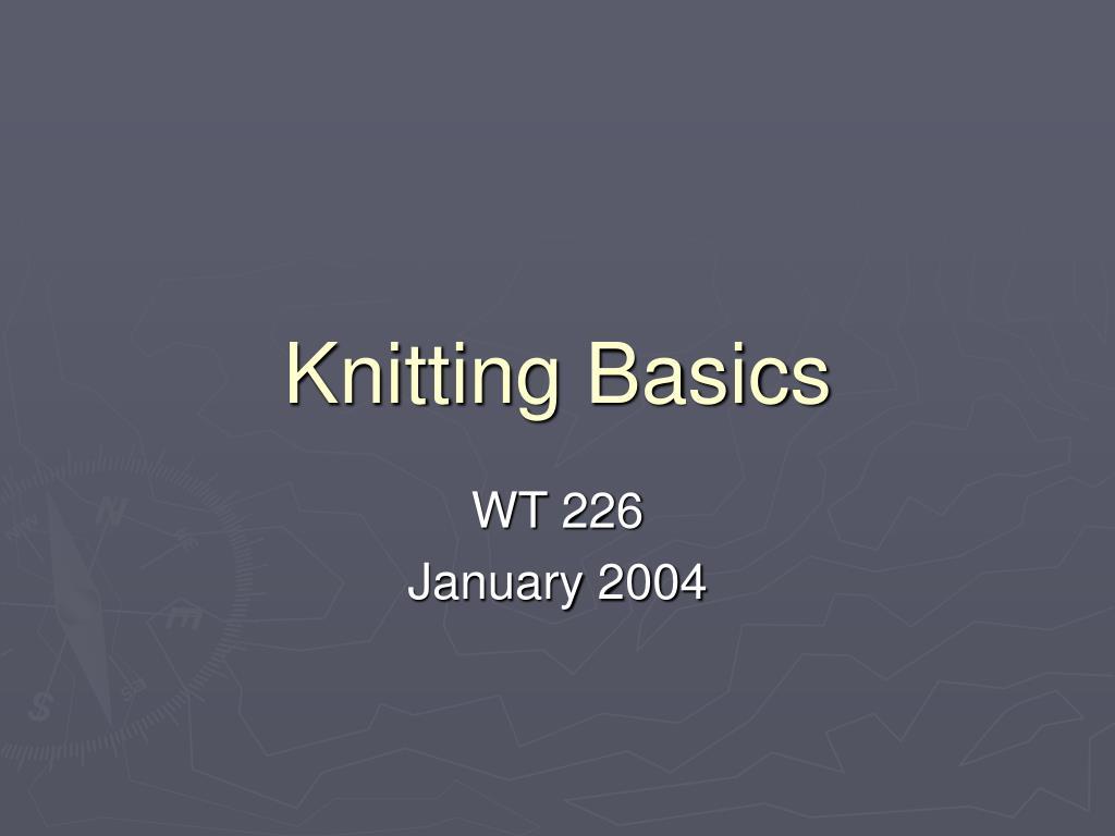 knitting basics l.