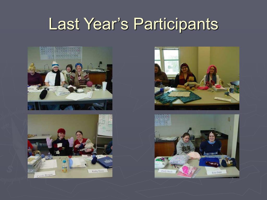 Last Year's Participants