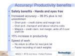 accuracy productivity benefits