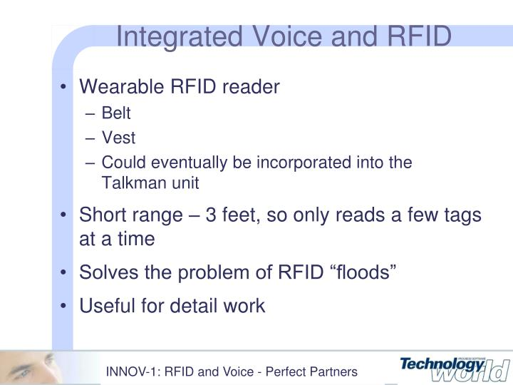 Integrated Voice and RFID