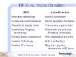 rfid vs voice direction