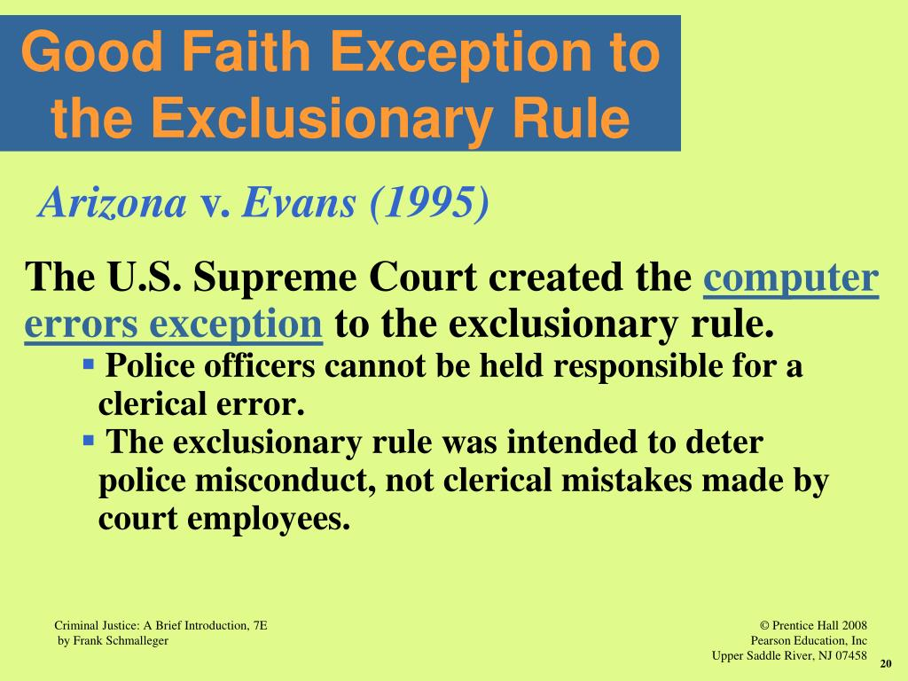 Image Result For Computer Errors Exception Exclusionary Rule