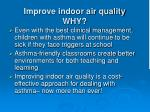 improve indoor air quality why