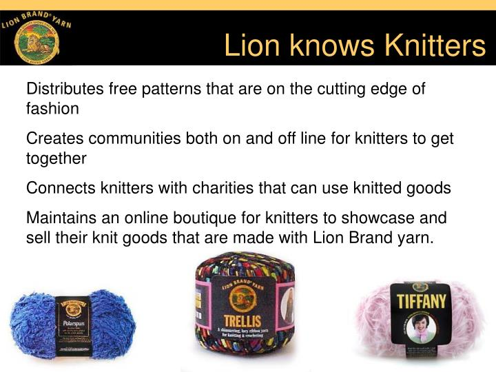 Lion knows knitters