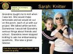 sarah knitter