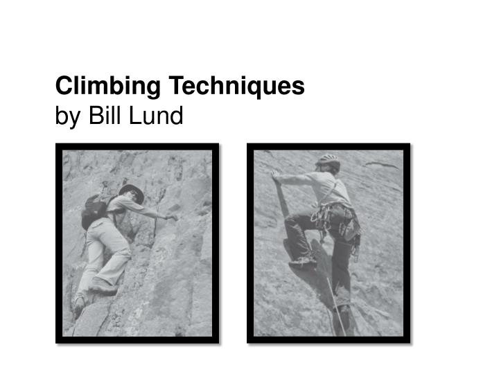 climbing techniques by bill lund n.