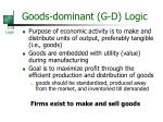 goods dominant g d logic
