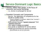 service dominant logic basics