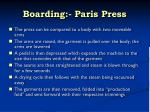 boarding paris press