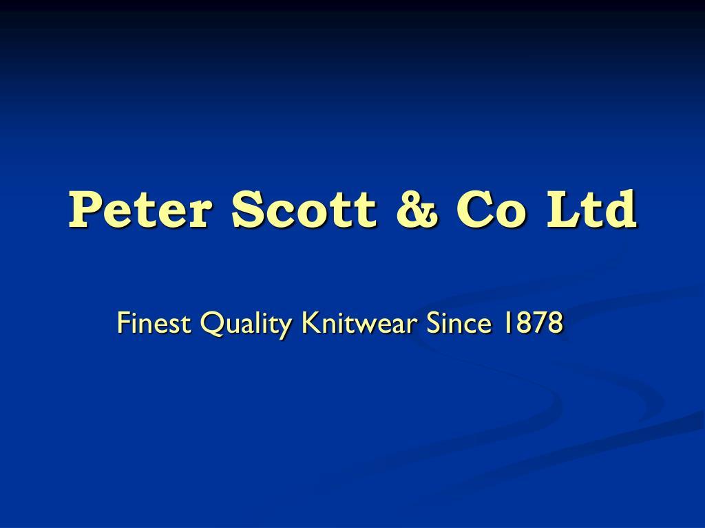 peter scott co ltd l.