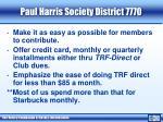 paul harris society district 77702