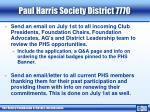 paul harris society district 77703