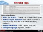 merging tags