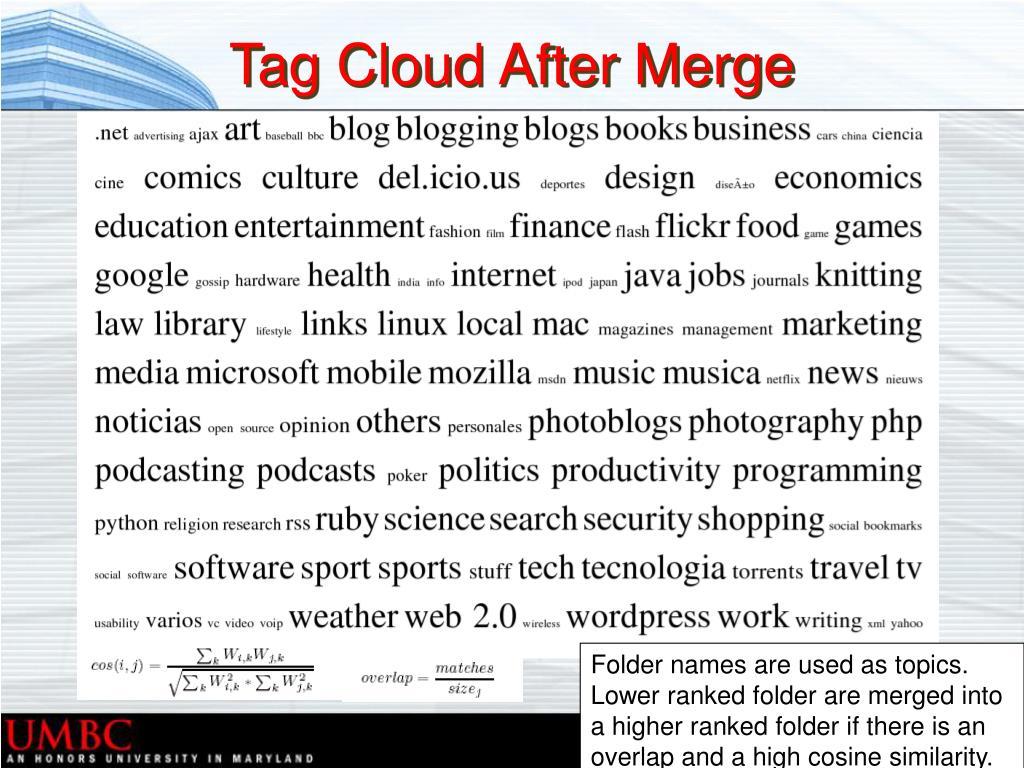 Tag Cloud After Merge