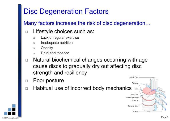 Disc Degeneration Factors