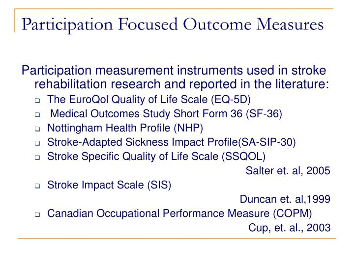 Ppt Fostering Community Participation After Stroke