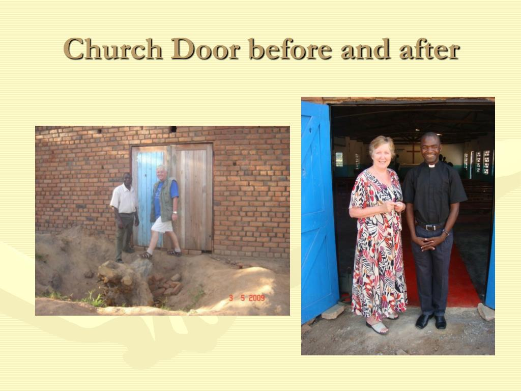 Church Door before and after