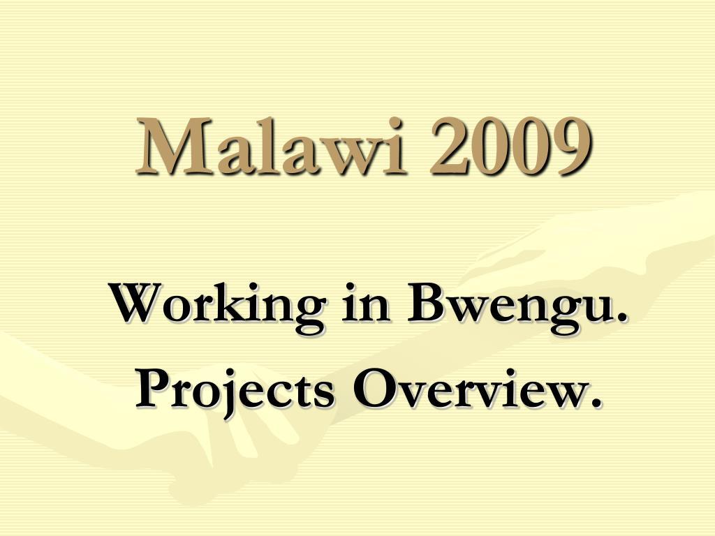 malawi 2009 l.