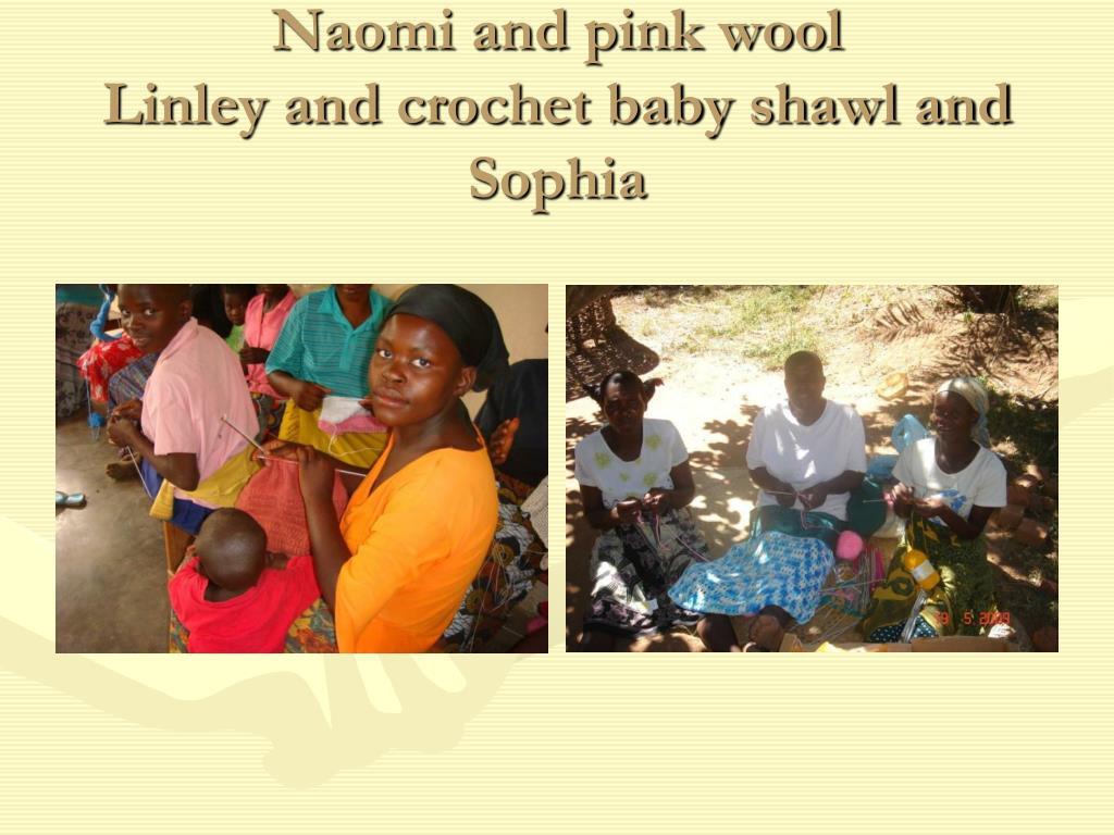 Naomi and pink wool