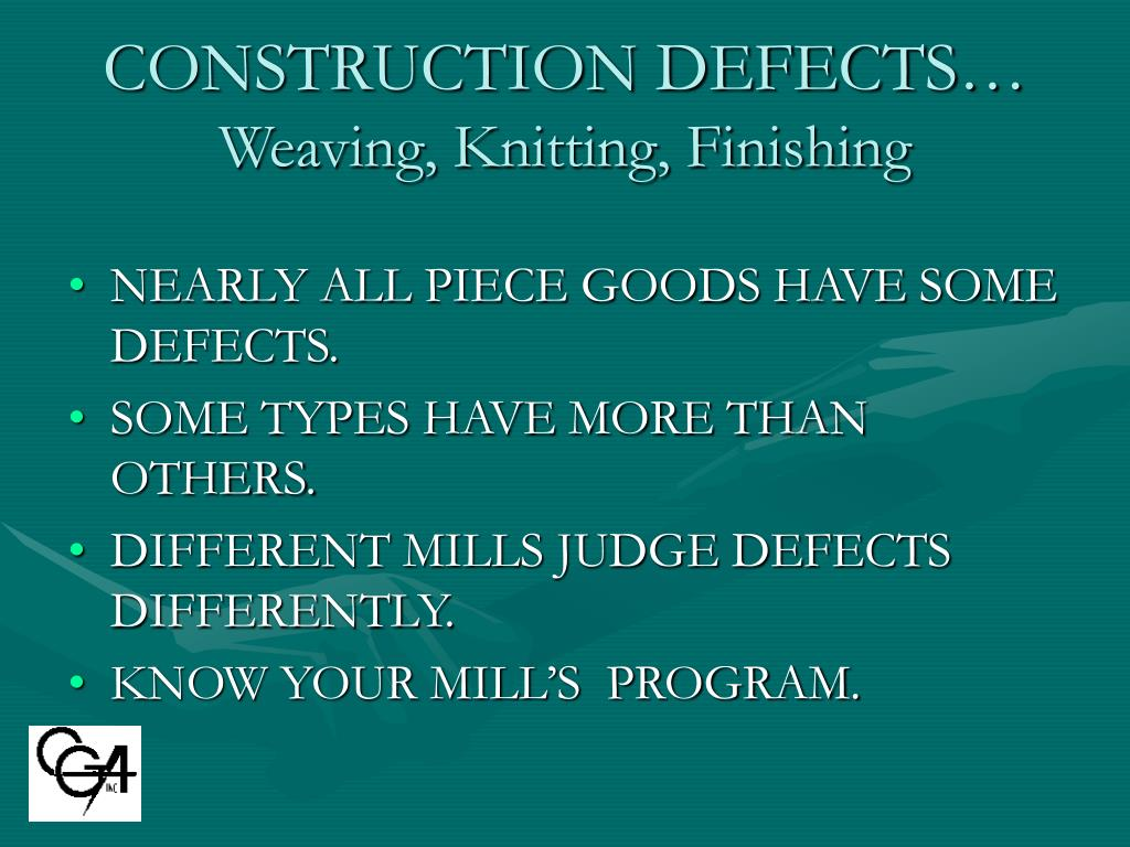 CONSTRUCTION DEFECTS…