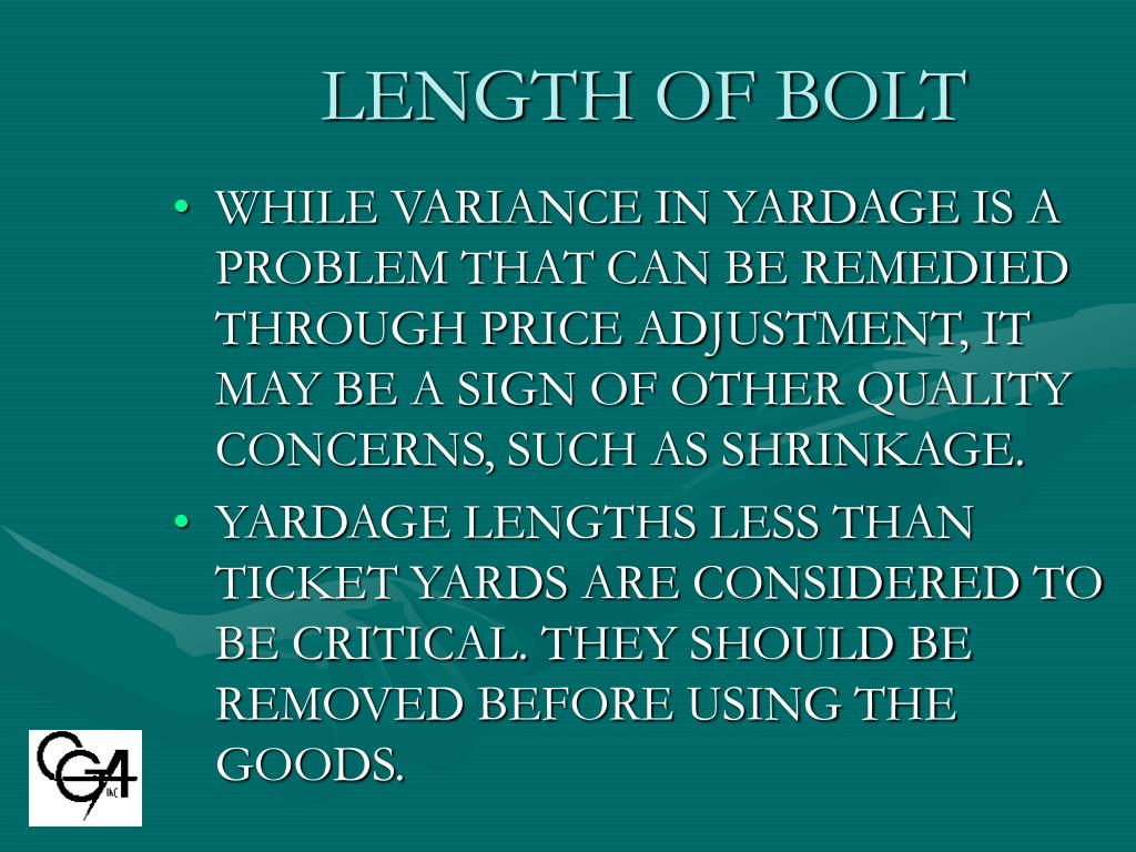 LENGTH OF BOLT