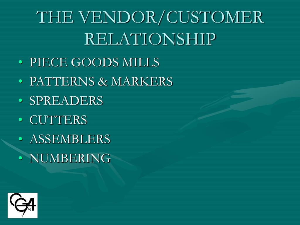THE VENDOR/CUSTOMER RELATIONSHIP