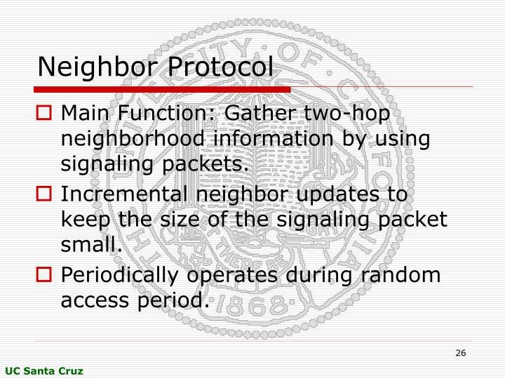Neighbor Protocol