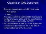 creating an xml document