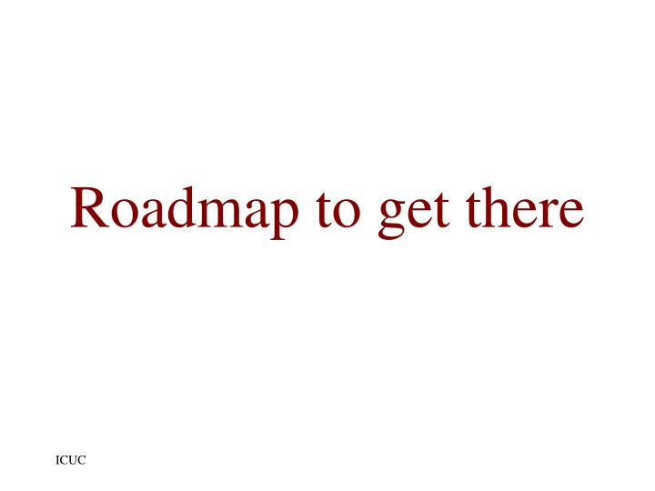 Roadmap to get there