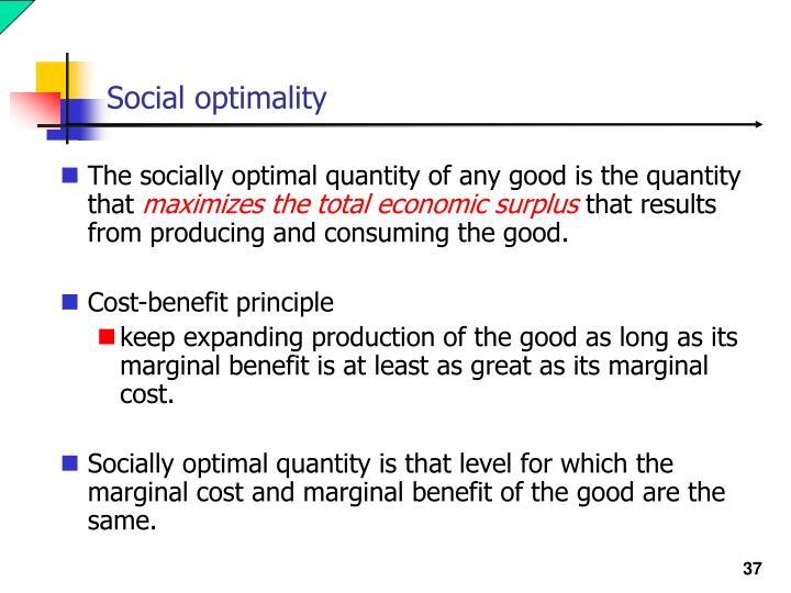 Social optimality