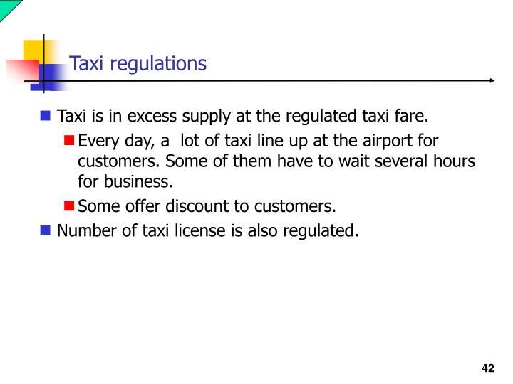 Taxi regulations