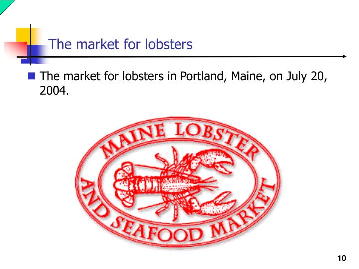 The market for lobsters