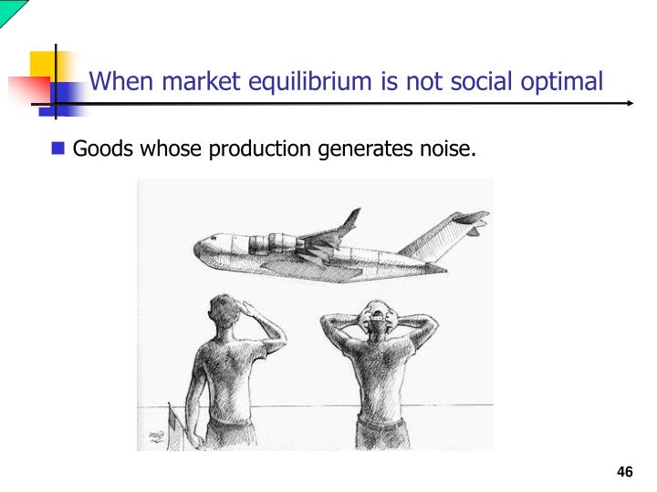 When market equilibrium is not social optimal