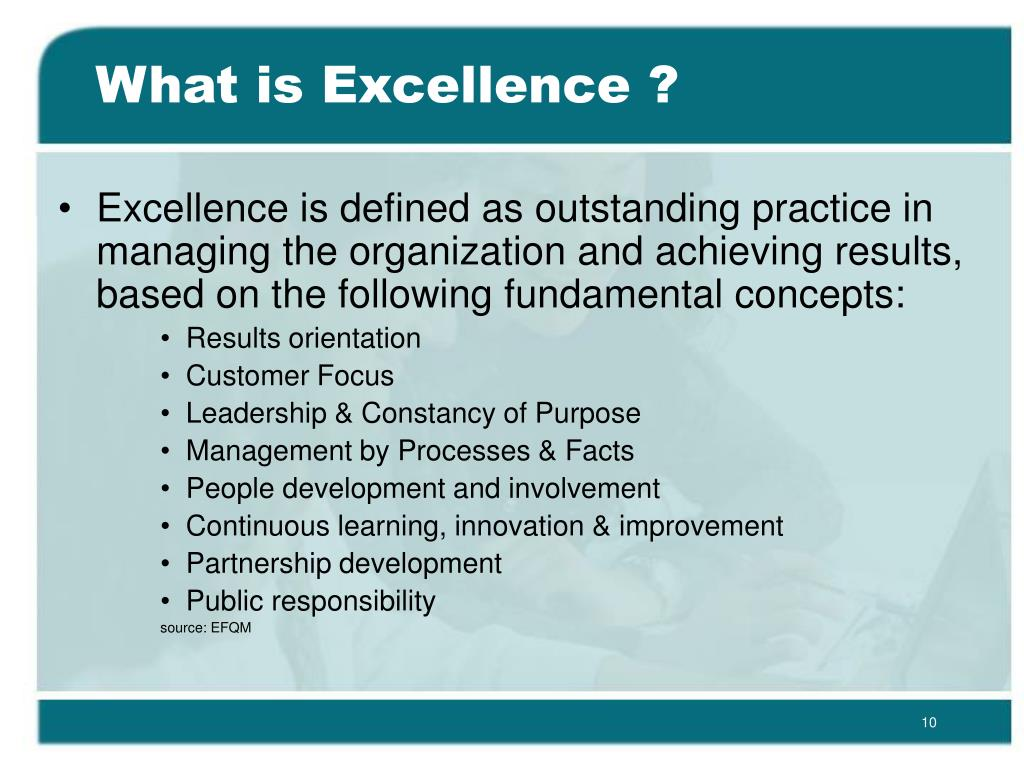 What is Excellence ?