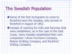 the swedish population