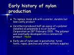 early history of nylon production