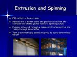 extrusion and spinning