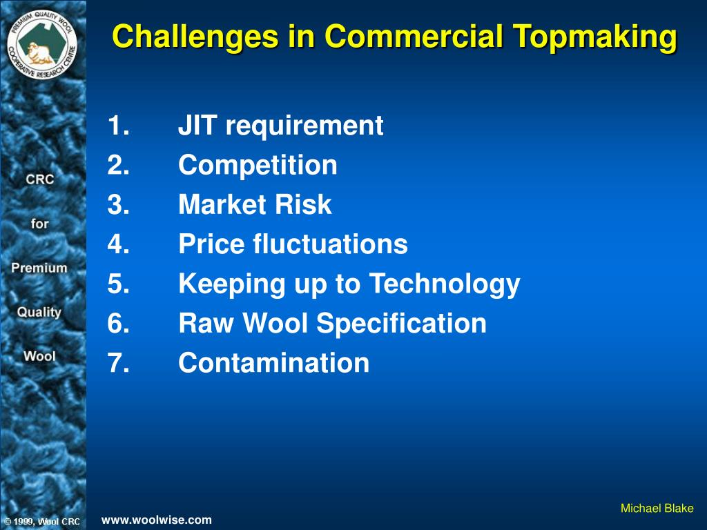 Challenges in Commercial Topmaking