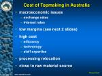 cost of topmaking in australia