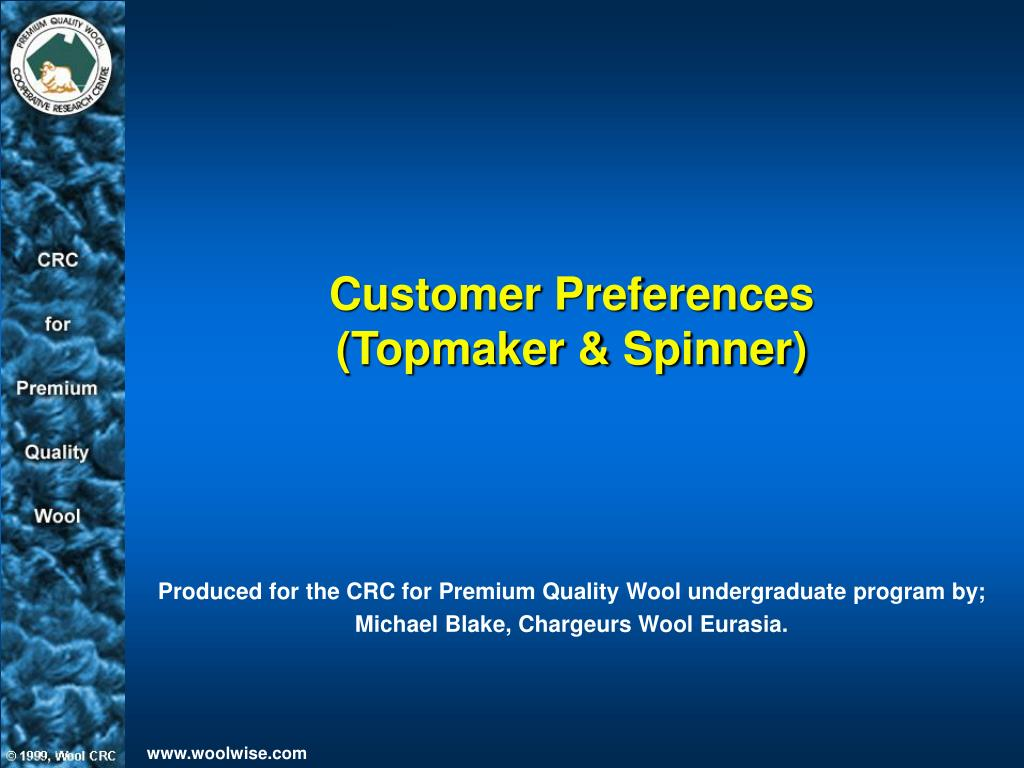 customer preferences topmaker spinner l.