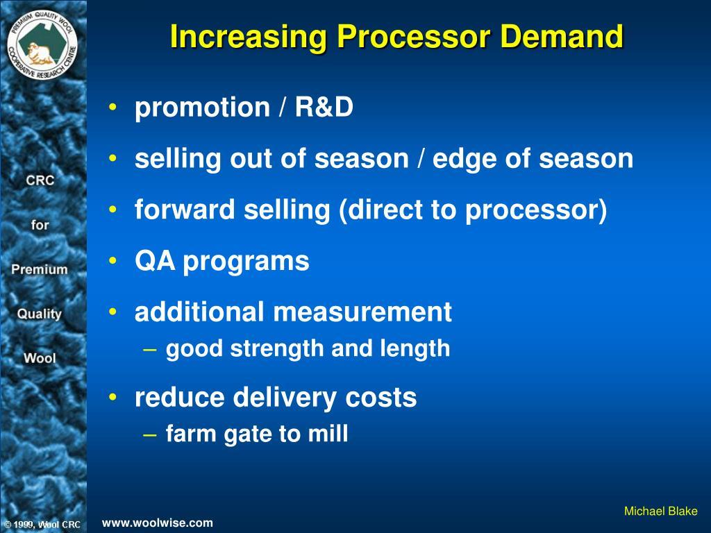 Increasing Processor Demand