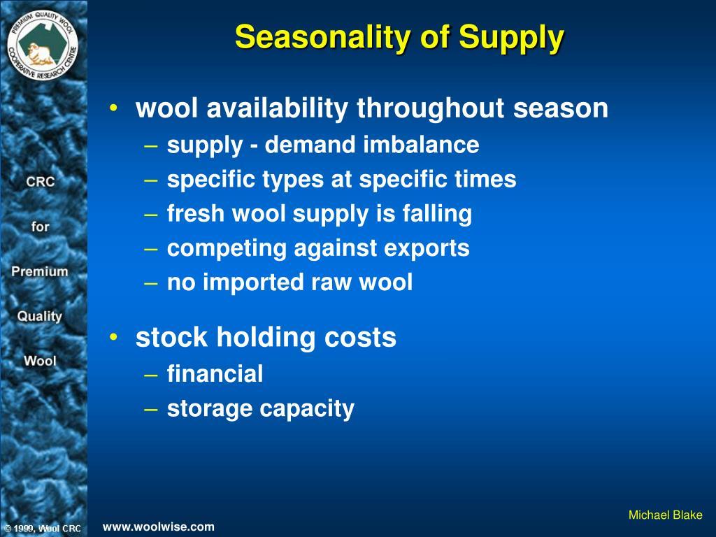 Seasonality of Supply