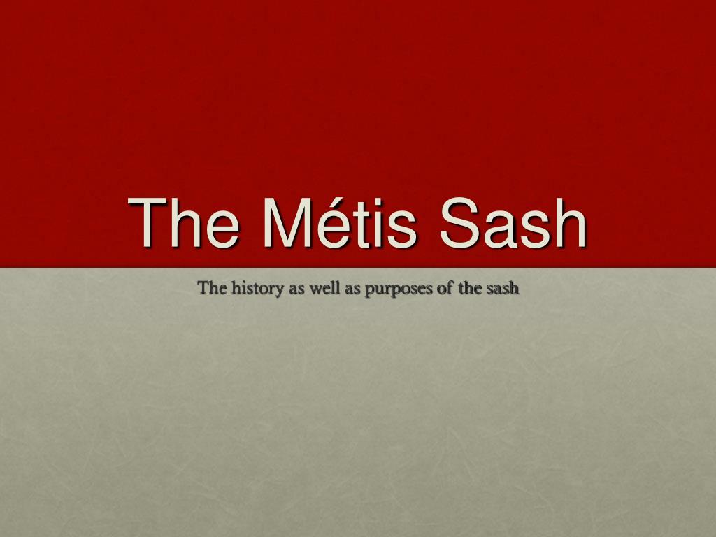the m tis sash l.
