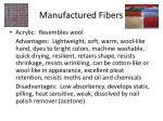 manufactured fibers9