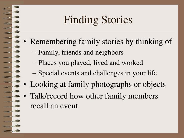 Finding stories