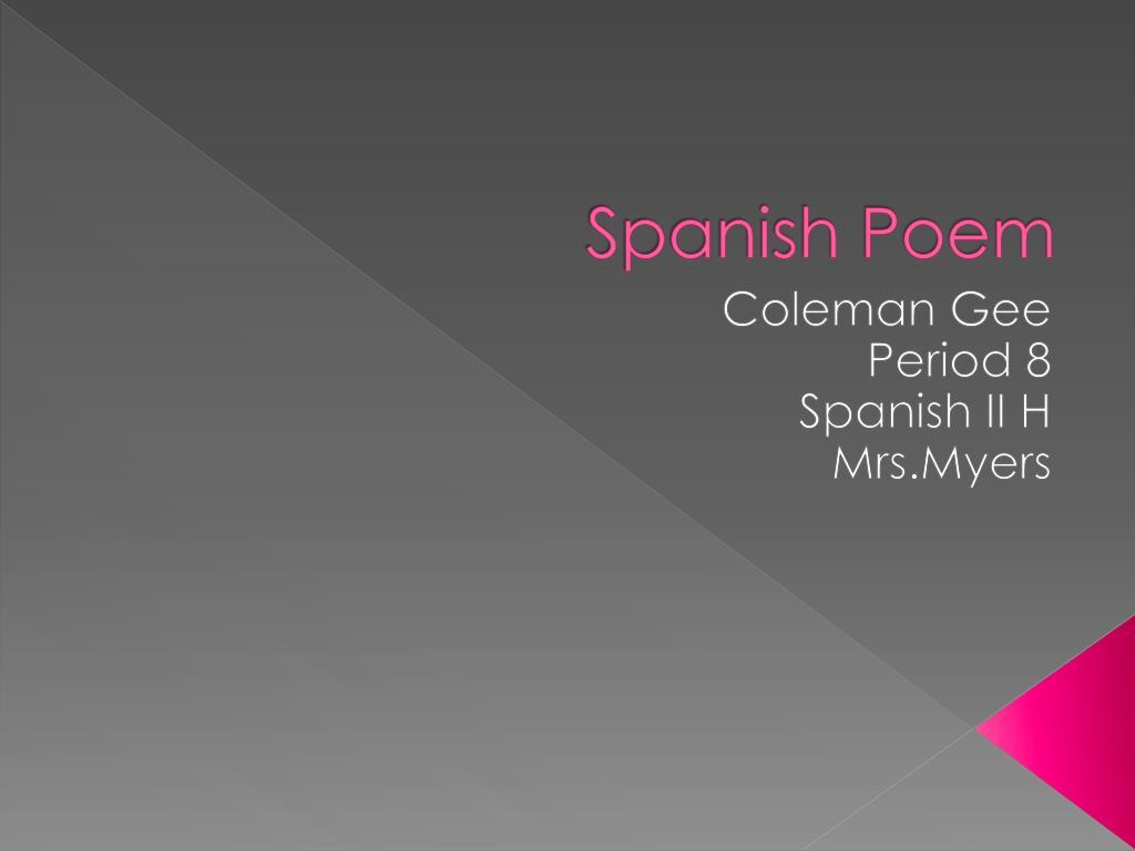spanish poem l.