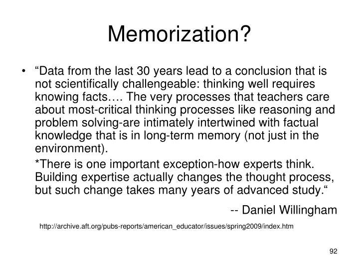 Memorization?