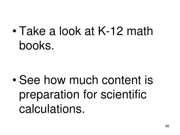 Take a look at K-12 math books.